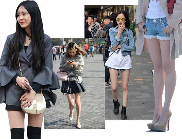 Фото девушек на улице с вырезом между ног