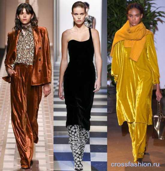0d81fd2fac6 Crossfashion Group — Бархат осень-зима 2017-2018  модные фасоны бархатной  одежды и сочетания с ней