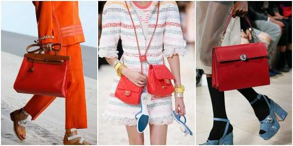 4ccfa1869455 Модные марки предлагают шопперы смелого дизайна, элегантные саквояжи,  повседневные тоуты, стильные клатчи на выход. Помимо чистого красного  цвета, ...